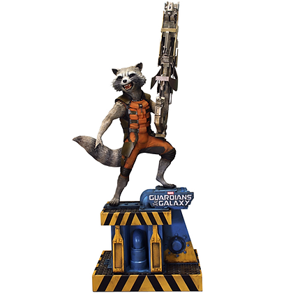 MARVEL GUARDIANS OF THE GALAXY ROCKET RACCOON LIFE SIZE FIGURE