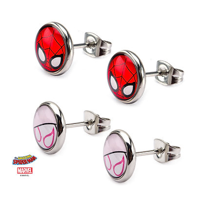 MARVEL SPIDER-MAN SPIDER-GWEN STUD EARRINGS SET