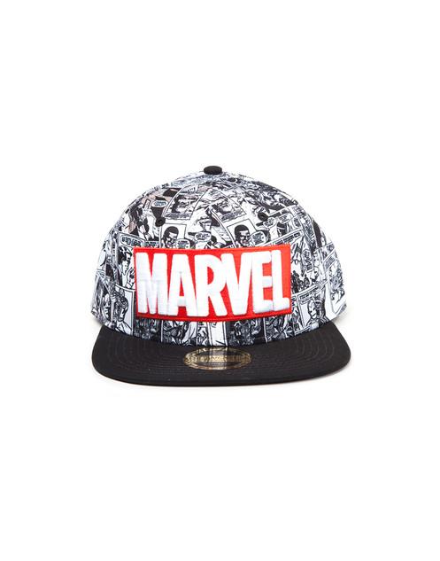 50e5056e MARVEL CLASSIC RED AND WHITE LOGO SNAPBACK CAP