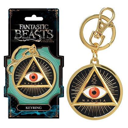 FANTASTIC BEASTS & WHERE TO FIND THEM MACUSA GOLD EYE KEYRING