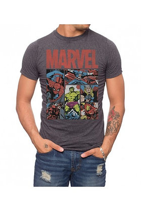 MARVEL HERO PANELS 3 T-SHIRT
