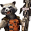 Thumbnail: MARVEL GUARDIANS OF THE GALAXY ROCKET RACCOON LIFE SIZE FIGURE