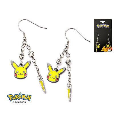 Pokemon Pikachu and Lightning Bolt Dangle Stainless Steel Earrings