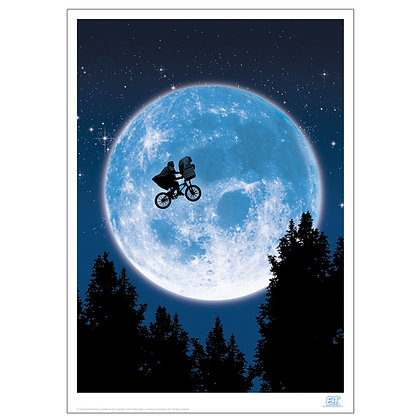 ET FLYING ACROSS THE FACE OF THE MOON ART PRINT
