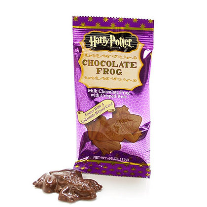 HARRY POTTER CHOCOLATE FROG WITH WIZARDING TRADING CARD