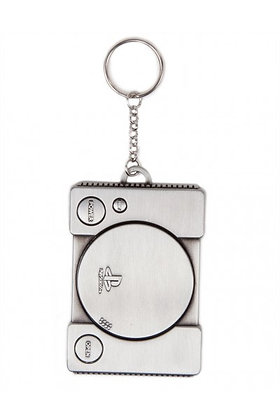 PLAYSTATION CONSOLE SHAPED METAL KEYRING