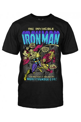 MARVEL IRON MAN NEON COVER T-SHIRT