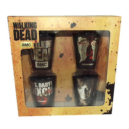 AMC THE WALKING DEAD DARYL WINGS FOIL SHOT GLASS 4-PACK