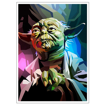 STAR WARS YODA ART PRINT