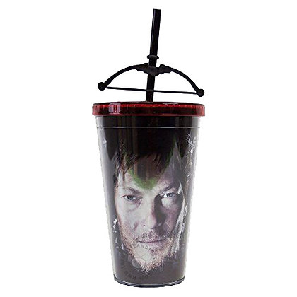 AMC THE WALKING DEAD TRAVEL CUP WITH CROSSBOW STRAW