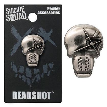 DC SUICIDE SQUAD DEAD SHOT PEWTER LAPEL PIN