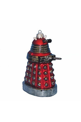 DOCTOR WHO RED GLASS DALEK HANGING ORNAMENT