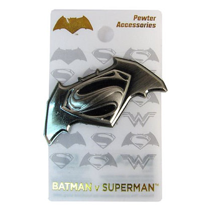 DC BATMAN V SUPERMAN: DAWN OF JUSTICE DELUXE PEWTER LAPEL PIN