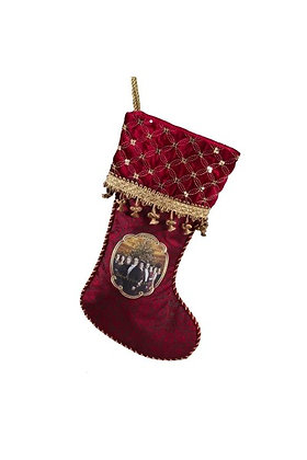DOWNTON ABBEY BURGUNDY AND GOLD DELUXE PORTRAIT STOCKING