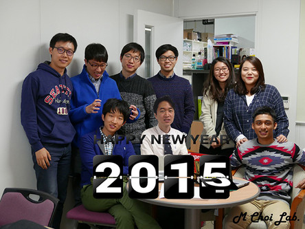 Celebrating the new year while the prof is not around (Courtesy: Seokho)