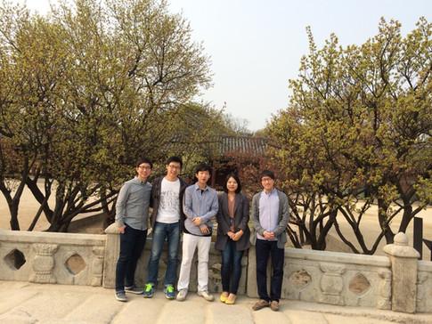 Enjoying a warm spring afternoon at Chang-gyeong Gung!