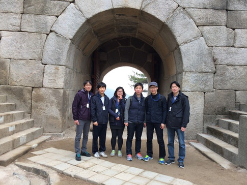 From a hiking trip to the Bukak Mountain in Seoul, Korea. (February 2014)