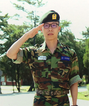 Sangmoon Lee came back from the army training facility to fulfill his mandatory training.