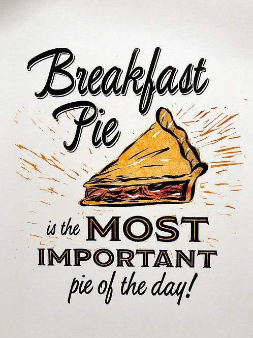 """""""Breakfast Pie"""" Letterpress Broadsheet"""