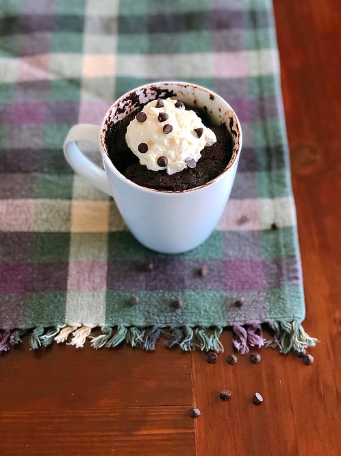 Chocolate-Chocolate Chip Mug Cake