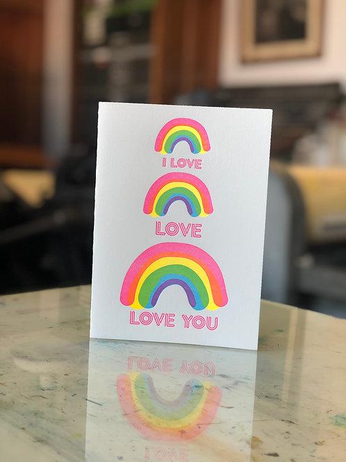 I Love Love Love You Card