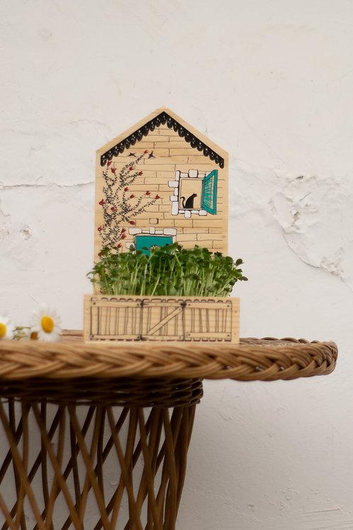 Villa Bröta: Casita con mini huerto