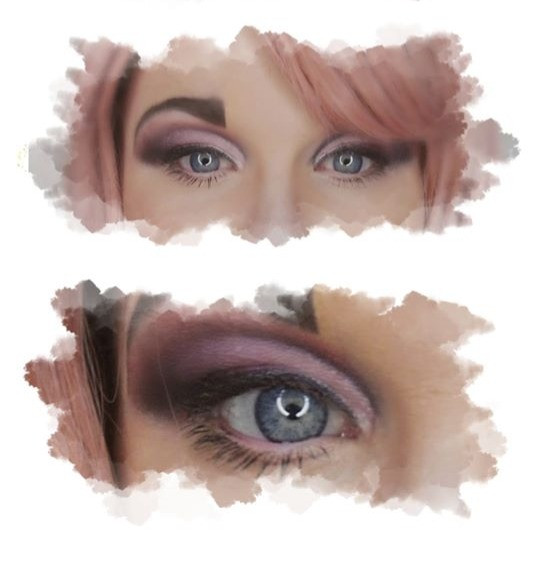 pink eyeshadow with blue eyes