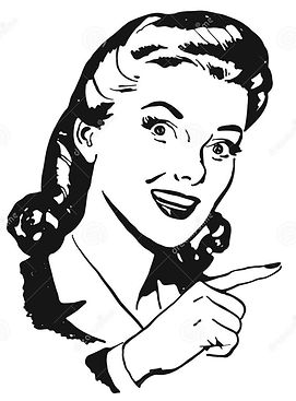 vintage-vector-woman-pointing-finger-bla