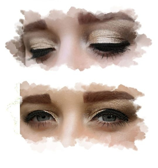 eye makeup with strip lashes