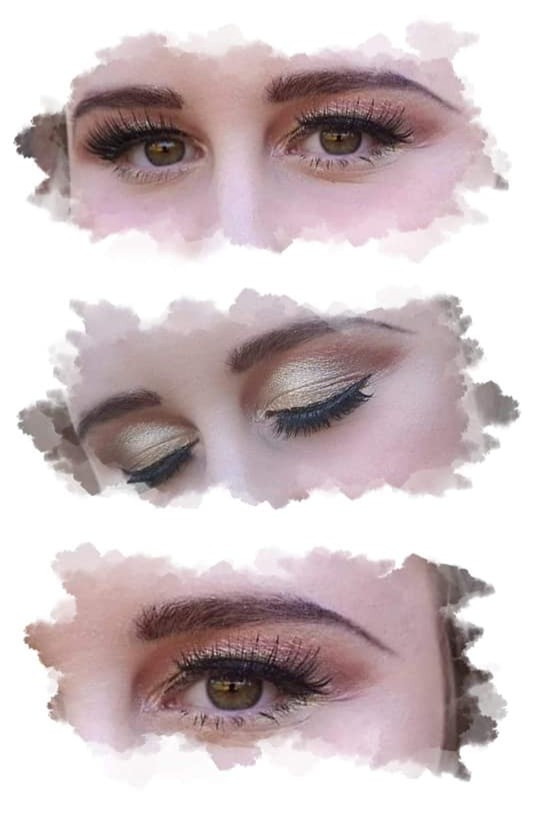 Gatsby eyeshadow with srtip eyelashes