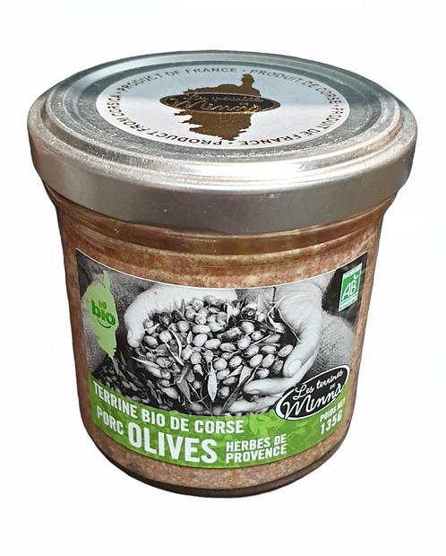 Terrine de Porc aux Olives et Herbes de Provence 140G