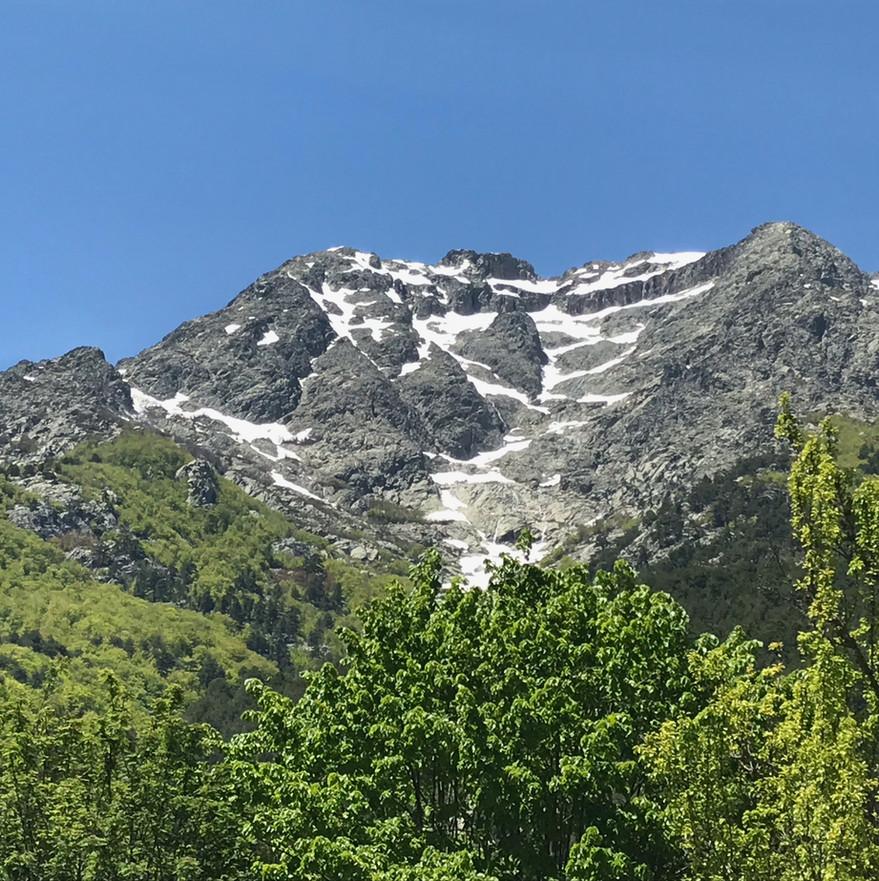 Monte d'Oro depuis les jardins du chalet