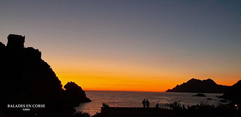 Coucher de soleil Porto Corse