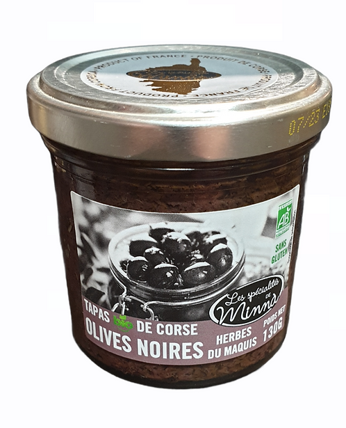 Tapas Bio Olives Noires Herbes du Maquis  130G