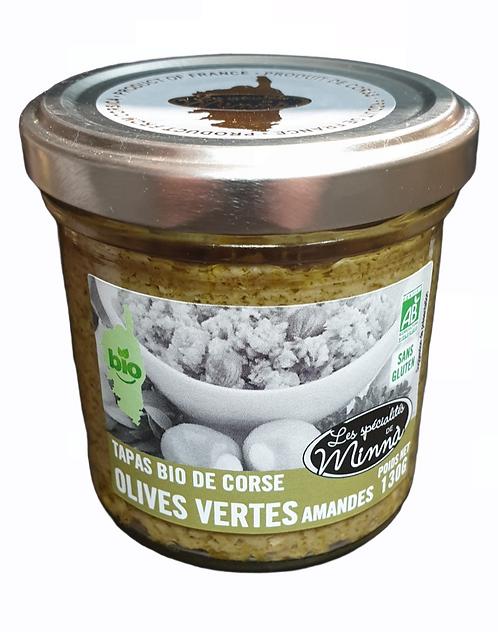 Tapas Bio Olives Vertes Amandes 130G