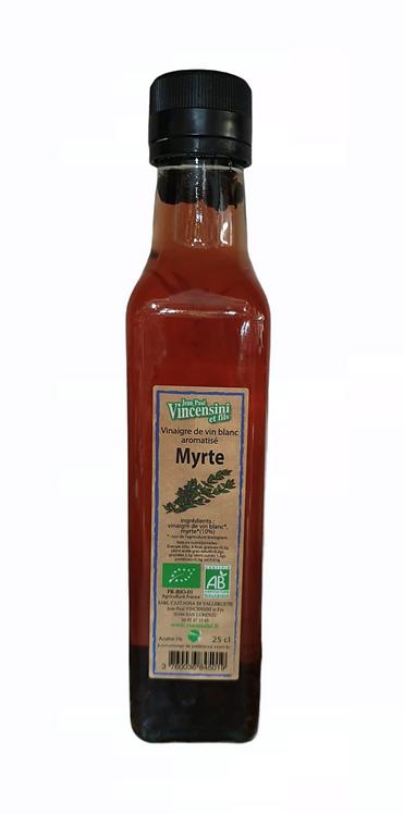Vinaigre de vin Blanc aromatisé Myrte 25CL
