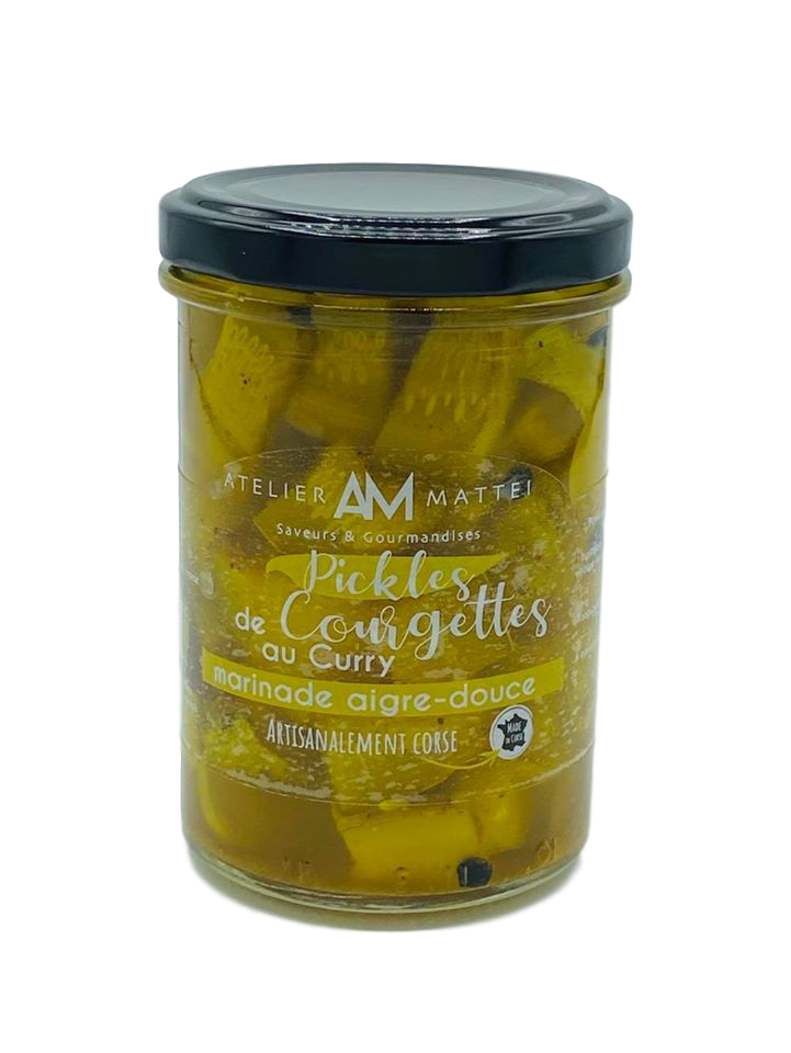 Pickles courgettes Corse curry Atelier M