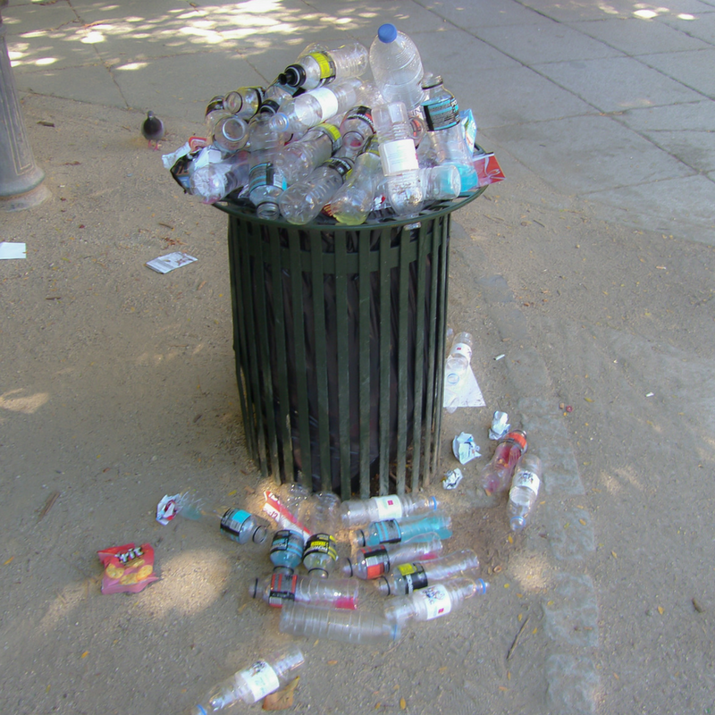 Take lids off bottles for recycling