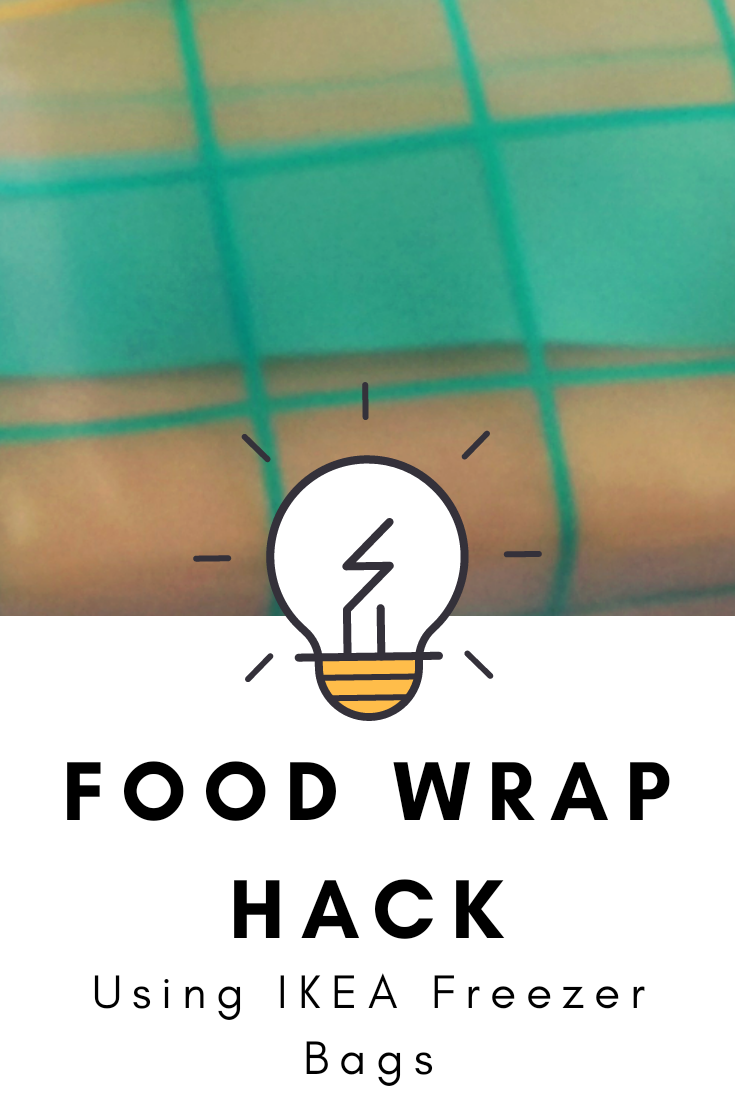 Food Wrap Hack using Ikea Reusable Freezer Bags