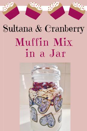 Sultana Cranberry Muffin Mix in a Jar