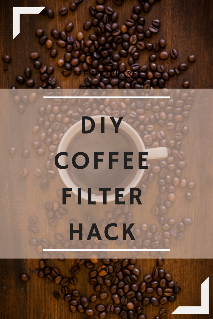 DIY Coffee Filter Hack for a zero waste coffee
