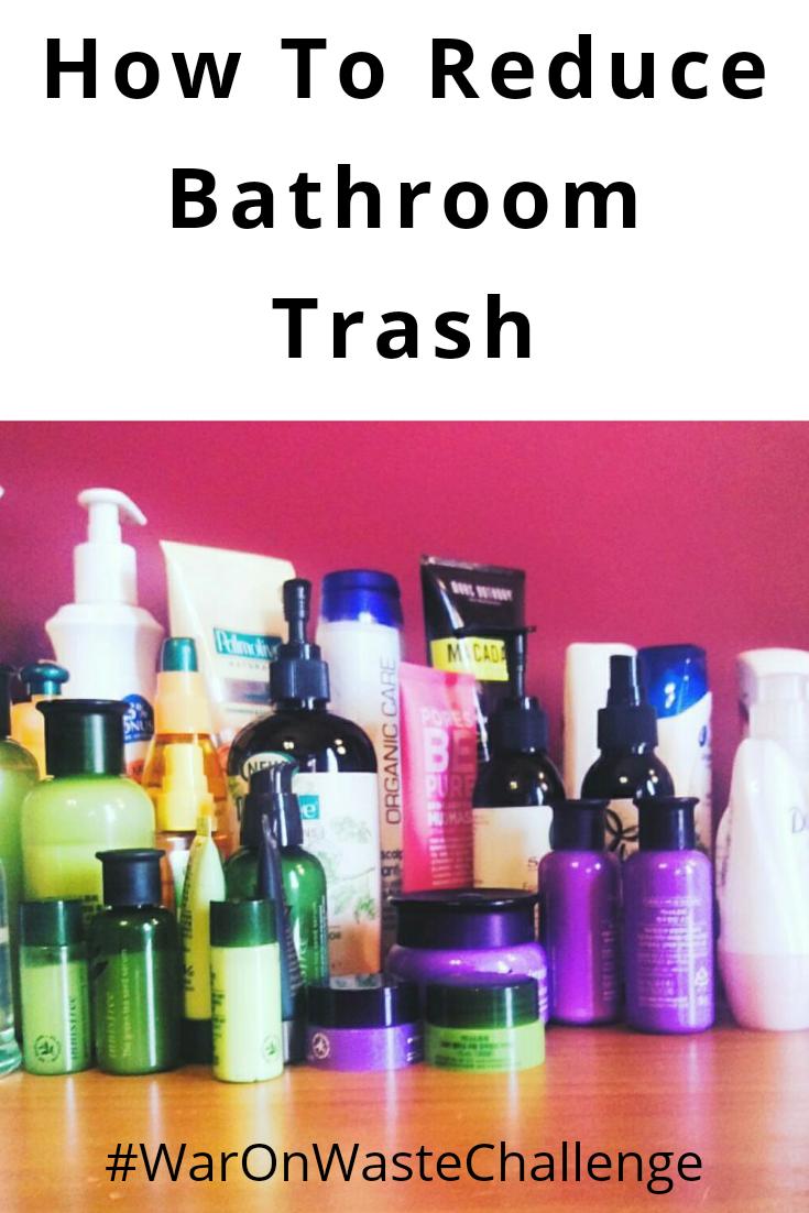 How to Reduce Bathroom trash: Zero Waste Challenge
