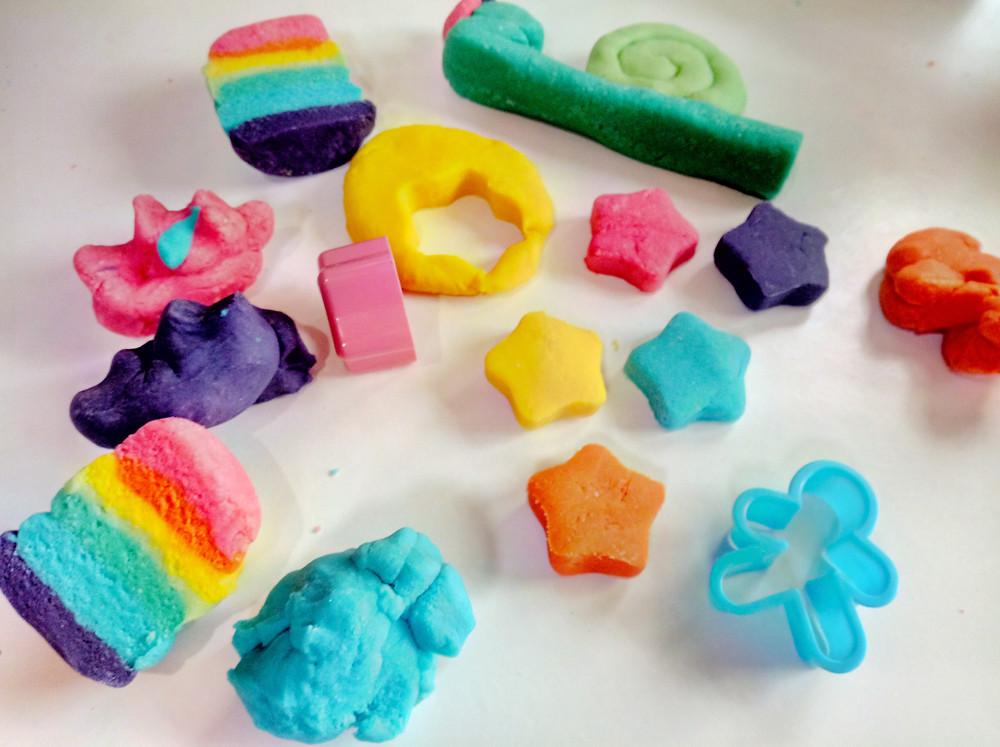 Making Playdough shapes