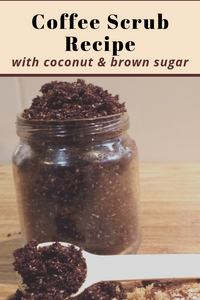 Exfoliating Coffee Coconut Scrub Recipe