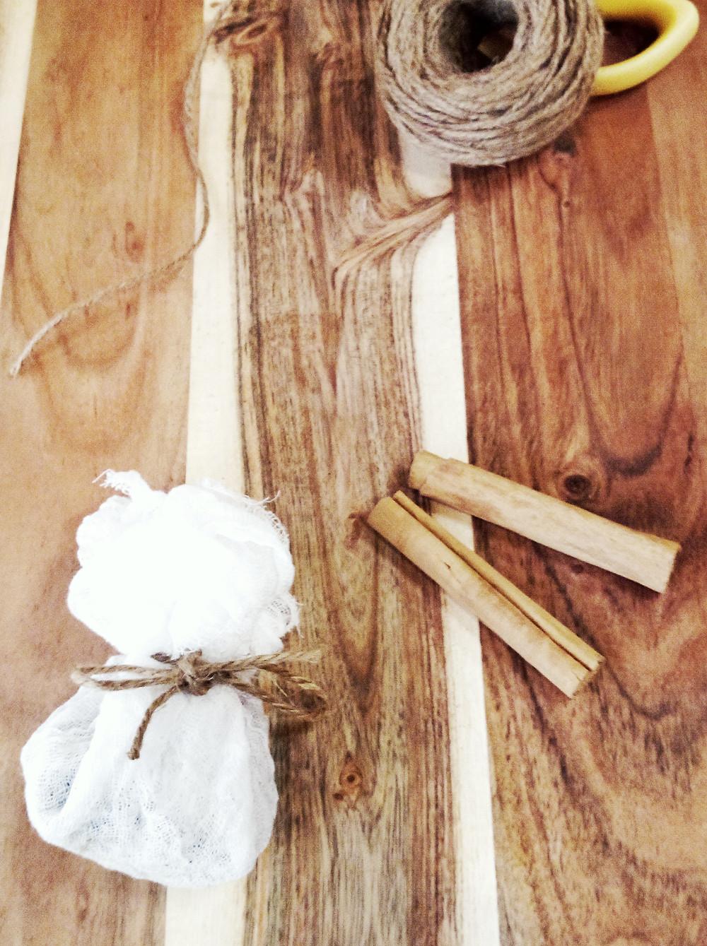 DIY botanical drawer sachet