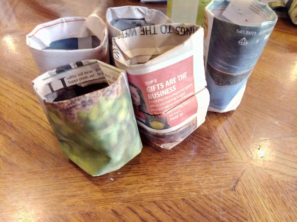Make Newspaper Seedling Pots
