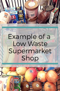 Example of a low waste supermarket shop