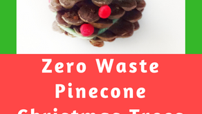 DIY Zero Waste Pinecone Christmas Trees