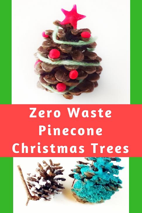 Pine Cone Christmas Tree Craft Project.Diy Zero Waste Pinecone Christmas Trees