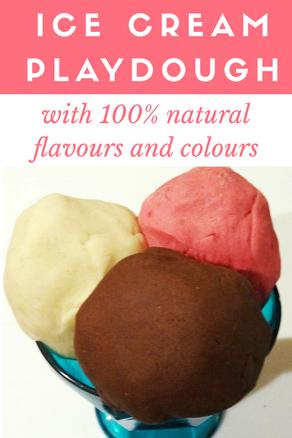 Make Natural Ice-cream Flavoured Playdough